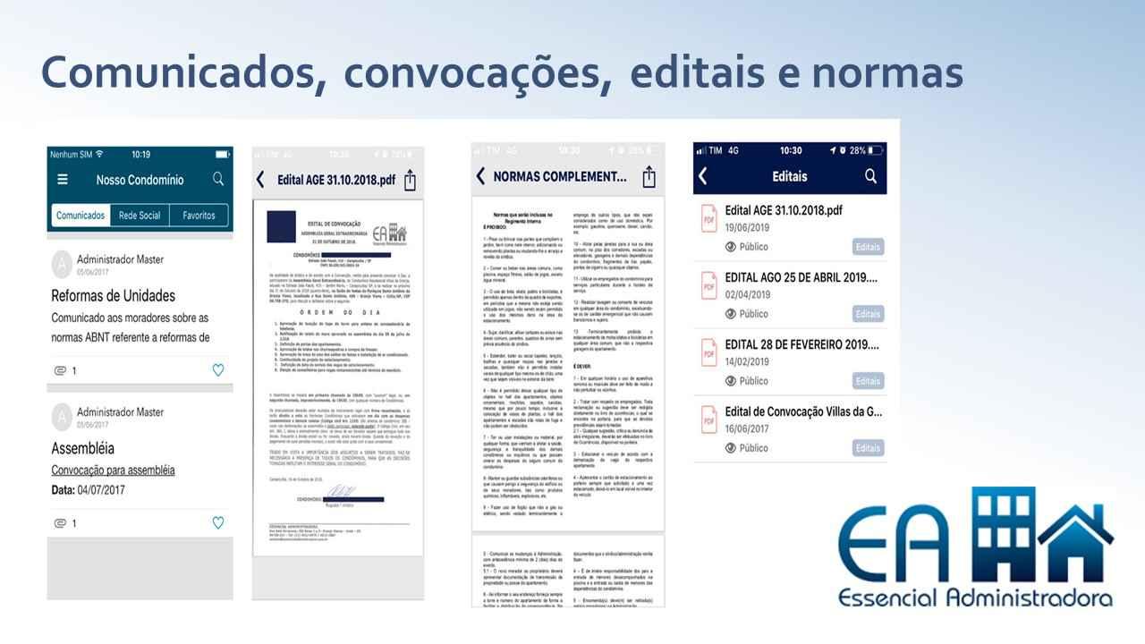Banner Essencial Administradora gestão comunicados