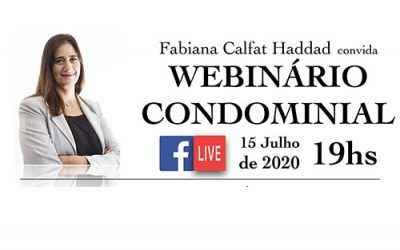 WEBINÁRIO CONDOMINIAL DE JULHO 2020